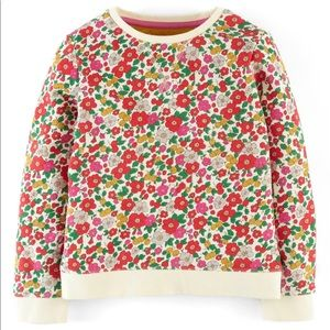 Mini Boden Floral Sweatshirt Girls 7-8